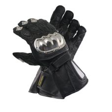 Xelement Premium Leather Stainless Steel Padded Racing Gloves